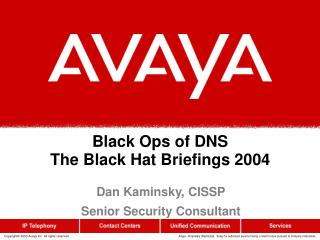 Black Ops of DNS The Black Hat Briefings 2004