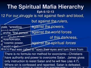 The Spiritual Mafia Hierarchy  Eph 6:12-13