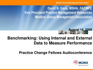 Benchmarking: Using Internal and External Data to Measure Performance