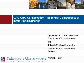 CAO-CBO Collaboration – Essential Components of  Institutional Success