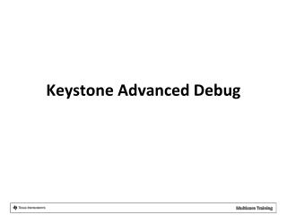 Keystone Advanced Debug