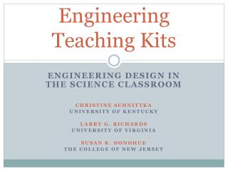 Engineering Teaching Kits
