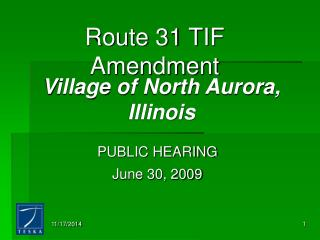 Route 31 TIF Amendment