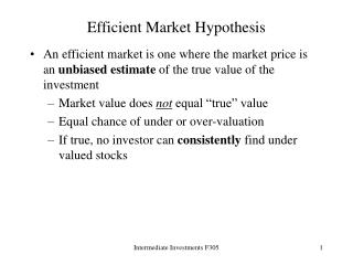 Efficient Market Hypothesis