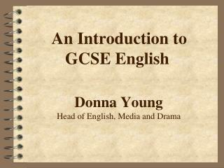 An Introduction to GCSE English