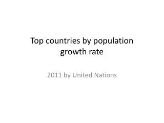 Countries Growth Rates