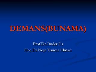 DEMANS(BUNAMA)