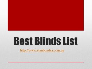 Best Blinds