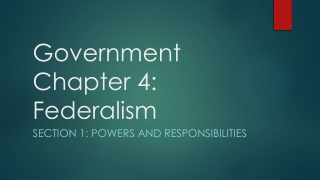 Government, Chapter 4