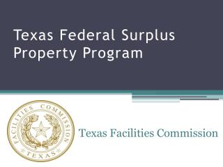 Texas Federal Surplus Property Program