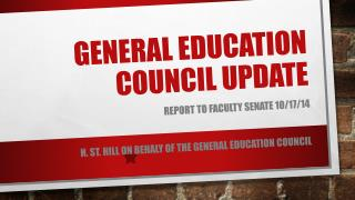 General education Council UPDATE