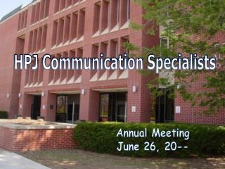 HPJ Communication Specialists
