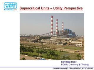 COMMISSIONING DEPARTMENT, NTPC-SIPAT