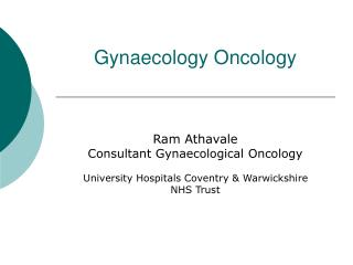 Gynaecology Oncology