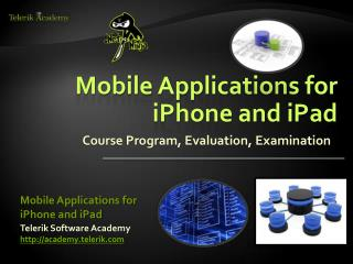 Mobile Applications for iPhone and iPad