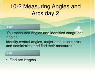 10-2 Measuring Angles and Arcs day 2