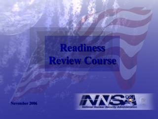 Readiness  Review Course