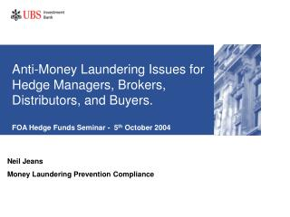 Neil Jeans Money Laundering Prevention Compliance
