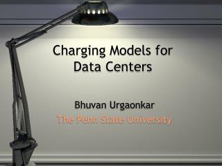 Charging Models for  Data Centers