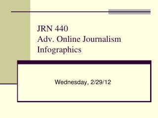 JRN 440 Adv. Online Journalism Infographics