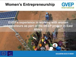 Women's Entrepreneurship