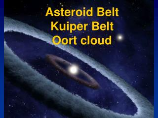 Asteroid Belt Kuiper Belt Oort cloud