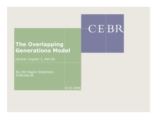 The Overlapping Generations Model (Romer chapter 2, Part B)