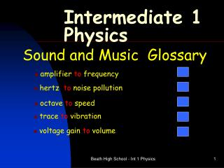 Intermediate 1 Physics