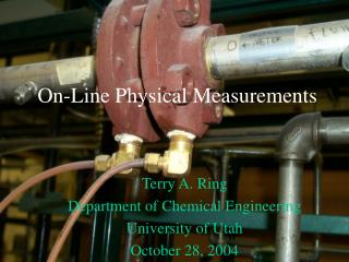 On-Line Physical Measurements