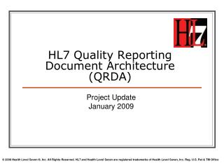 HL7 Quality Reporting Document Architecture (QRDA)