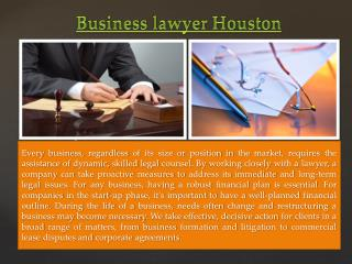 Houston Commercial Lawyer