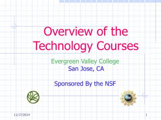 Overview of the Technology Courses