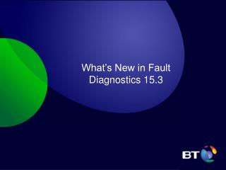 What's New in Fault Diagnostics 15.3