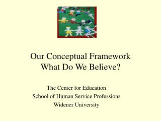 Our Conceptual Framework  What Do We Believe?
