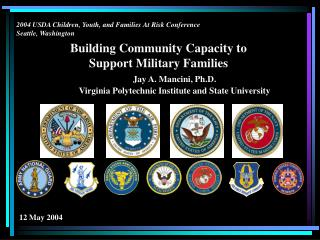 Building Community Capacity to Support Military Families Jay A. Mancini, Ph.D.