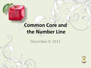 Common Core and  the Number Line