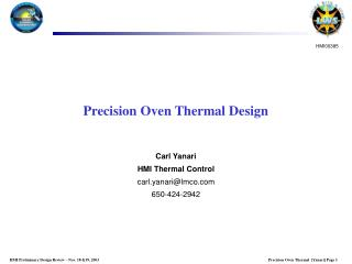 Precision Oven Thermal Design