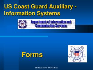 US Coast Guard Auxiliary - Information Systems