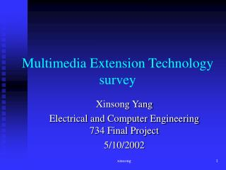 Multimedia Extension Technology   survey