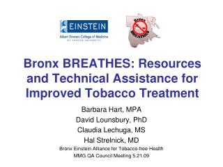 Bronx BREATHES: Resources and Technical Assistance for Improved Tobacco Treatment