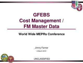 GFEBS Cost Management / FM Master Data
