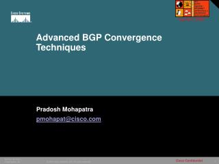 Advanced BGP Convergence Techniques