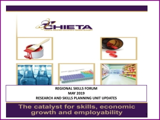 REGIONAL SKILLS FORUM MAY 2019 RESEARCH AND SKILLS PLANNING UNIT UPDATES