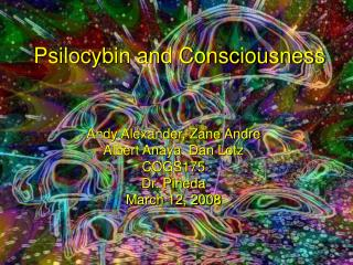 Psilocybin and Consciousness