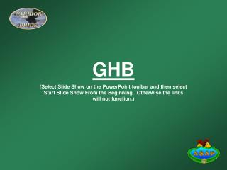 GHB (Select Slide Show on the PowerPoint toolbar and then select Start Slide Show From the Beginning.  Otherwise the lin