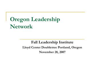 Oregon Leadership Network