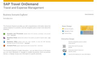 SAP Travel OnDemand Travel and Expense Management