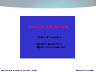 Internet Application