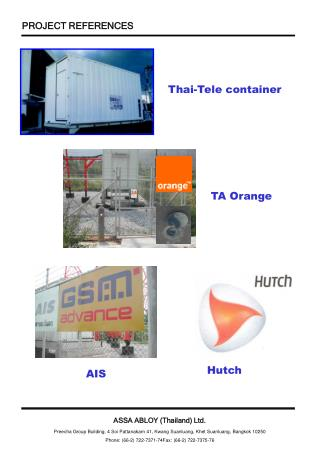 Thai-Tele container