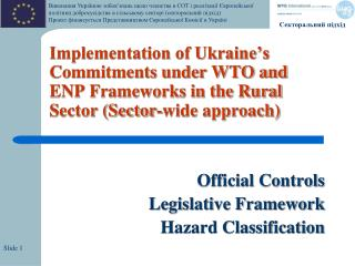 Official Controls Legislative Framework Hazard Classification